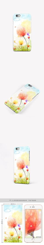 水彩郁金香创意手机壳手机套图案