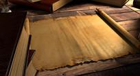 羊皮纸卷轴书籍视频
