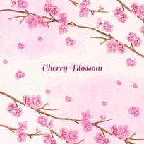 樱花抱枕AI矢量素材
