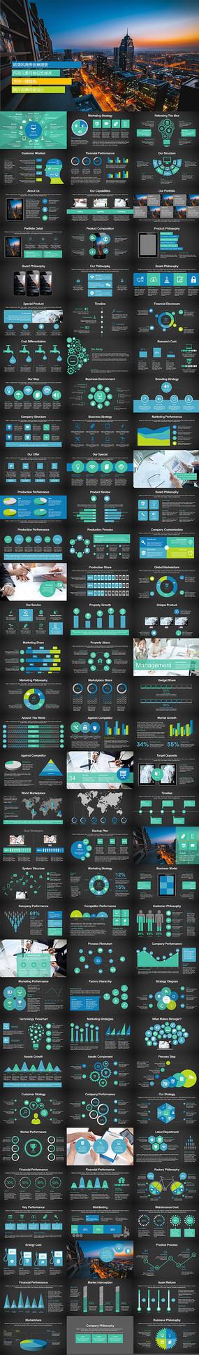 PPT图文排版设计相册排版人物介绍简历PPT图表下载 pptx