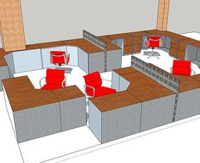 办事大厅室内家具布置