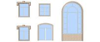 多款欧式风格窗户模型