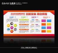时尚大气企业文化墙PSD素材