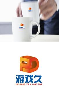 时尚立体游戏logo