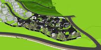新农村中式住宅群落SketchUp模型