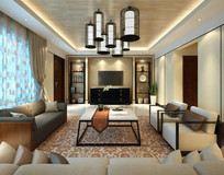 中国古典风格客厅3DMAX模型(附贴图) 2010