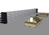 超市商店售货架售货柜模型