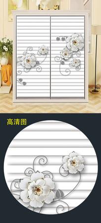 大气衣柜移门背景衣柜门图案