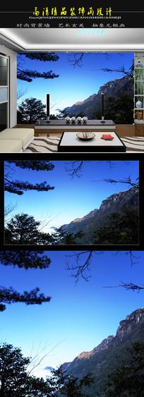 高清自然风光山河壮丽电视背景墙装饰画
