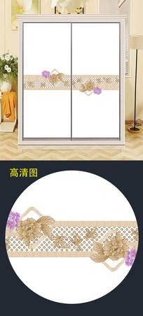 精美花朵衣柜移门图案