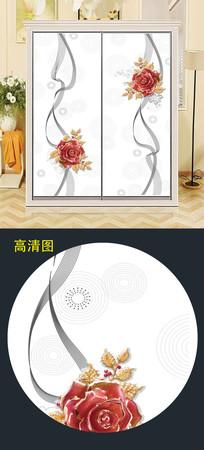 精美现代移门衣柜移门图案