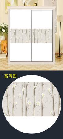 精美中式花衣柜移门图案