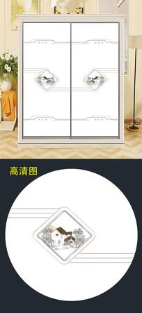 时尚小房子现代移门背景图案