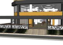 休闲餐厅建筑室内模型