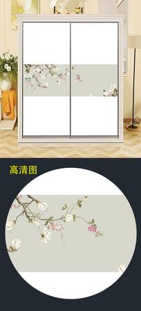 中式精美衣柜移门图案