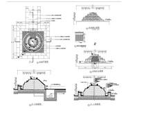 叠水坝剖面图