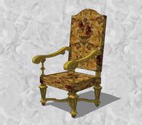 古典花纹靠背座椅