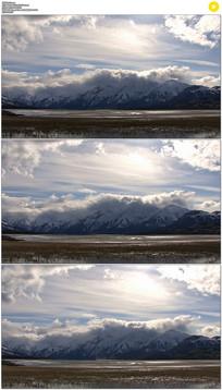 蓝天白云湖泊实拍视频素材