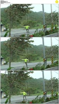 强劲的台风实拍视频素材
