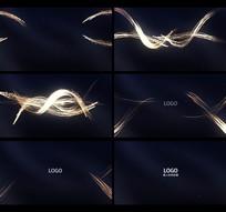 唯美粒子流光线AE模板视频