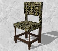 中式花纹座椅