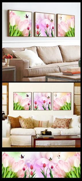 百合花餐厅酒店装饰画图片