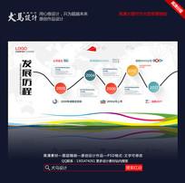 简约创意企业发展历程展板 PSD