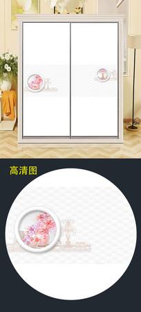 立体简约花衣柜移门图片衣柜门