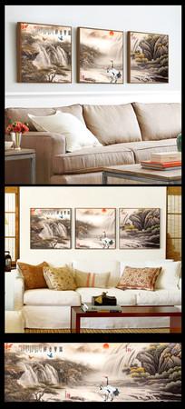 山水装饰画图片