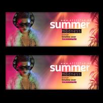 横板夏季音乐节海报设计