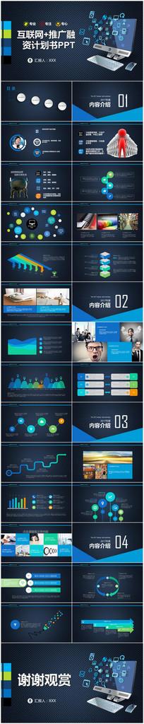 2018互联网科技企业运营管理总结计划PPT模板