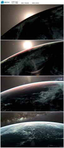 地平线太阳升起视频