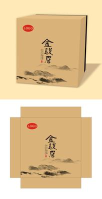 简约古风金骏眉茶叶礼盒包装设计