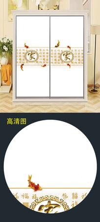 立体衣柜移门图案