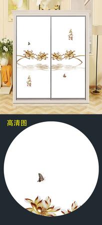 立体珠宝花朵衣柜移门图案