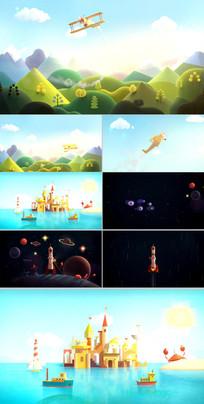 泡沫卡通玩具儿童乐园动态CG视频