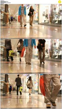 商场购物中心行人实拍视频素材