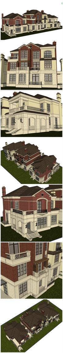 英式别墅SU模型