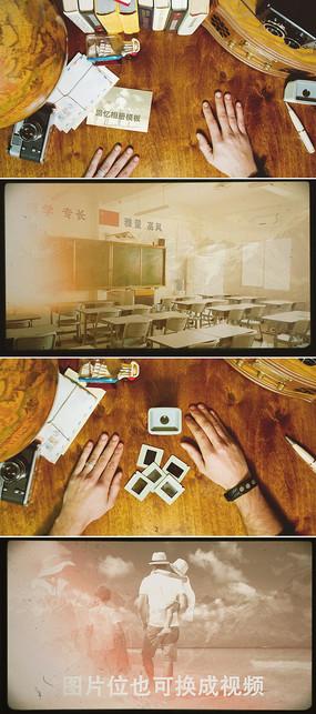 ae回忆幻灯片家庭照片同学录相册模板
