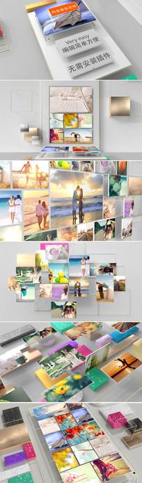 大气三维企业员工照片墙产品展示ae模板