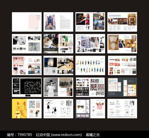 国外作品集杂志版式设计图片