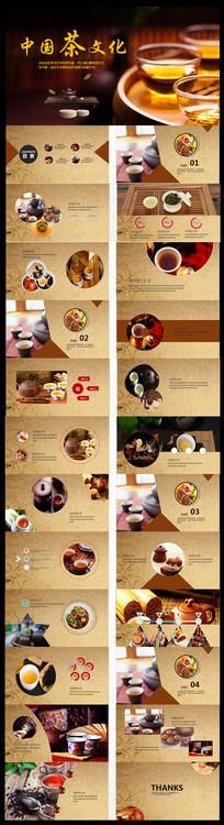 古香古色传统中国茶文化PPT模板