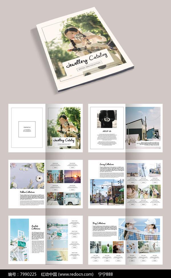 简约清新日系摄影作品集企业画册宣传册图片