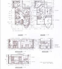 家装手绘线稿布置图