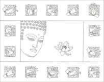 金指如来佛祖头像雕刻图案