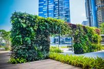 新加坡滨海湾金融中心居住区立体绿化景观小品