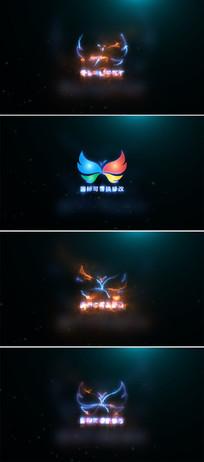 震撼电流光线能量闪电logo标志展示ae模板