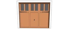 车库简洁风格门模型