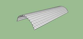 弧形瓦顶SU模型