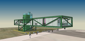 绿色集装箱建筑